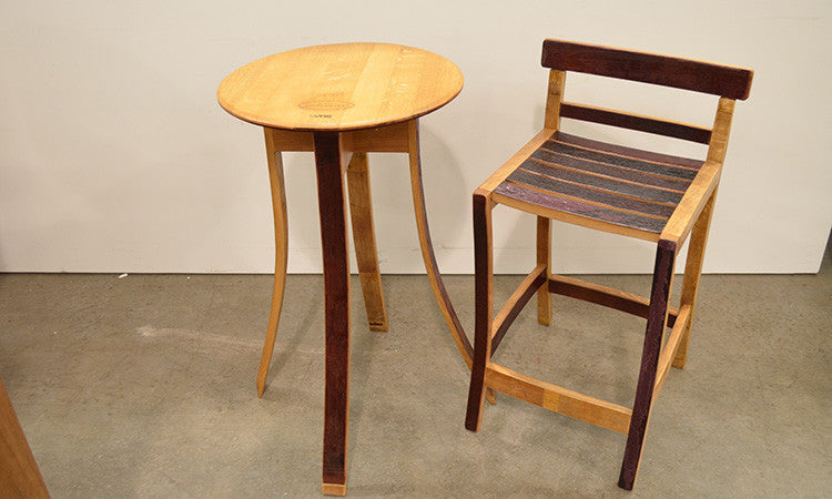Recycled Wine Barrel Bar Stool Wa Made General Store Furniture