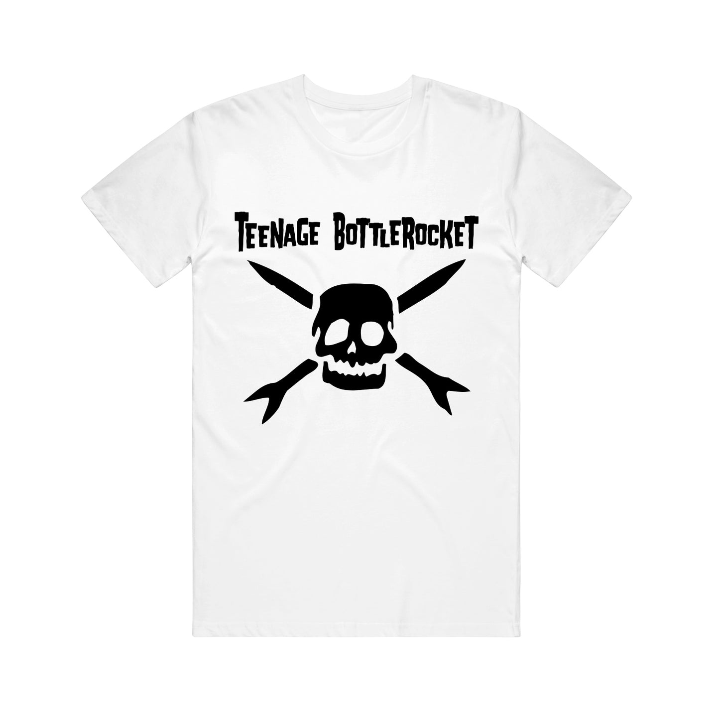 Black Logo White T-Shirt