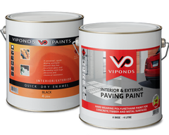 Viponds Paving Paint and Viponds Quick Dry Enamel Cans
