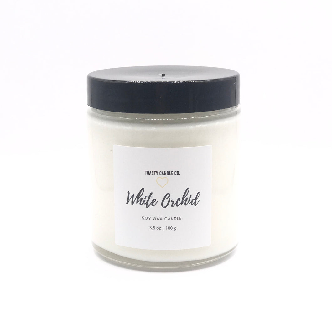 White Orchid Candle- Mini