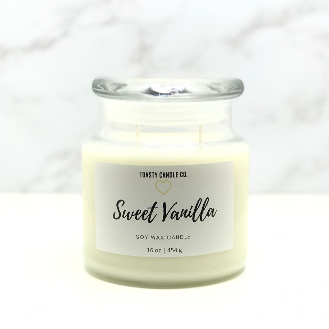 Sweet Vanilla Candle- Large