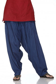 Navy Blue Pain Cotton Patiala Salwar Pants