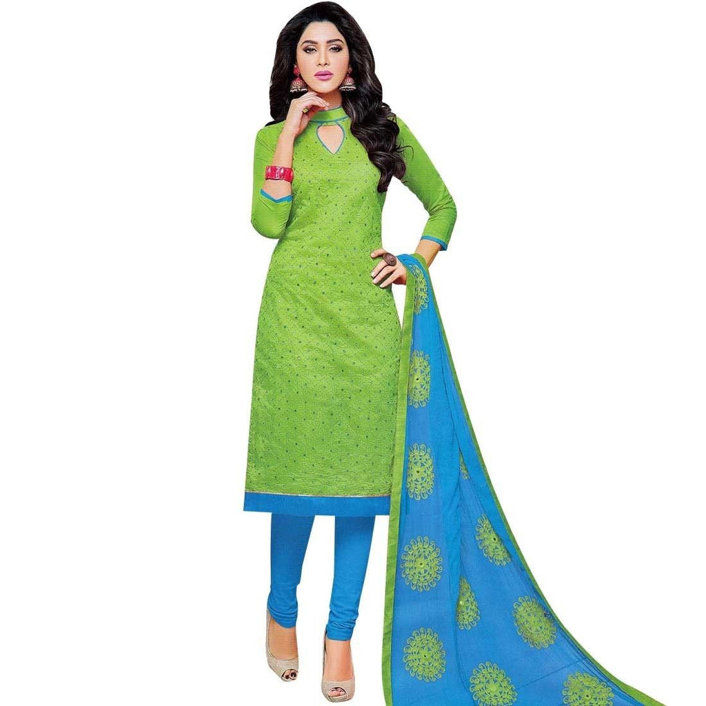 Ready Made Silk Mirror & Embroidery Salwar Kameez Suit Indian dres