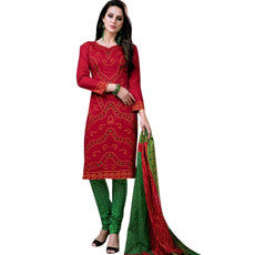 LADYLINE Bandhej Printed Pure Cotton Salwar Kameez Womens Dress Indian Pakistani Ready to wear Salwar Suit