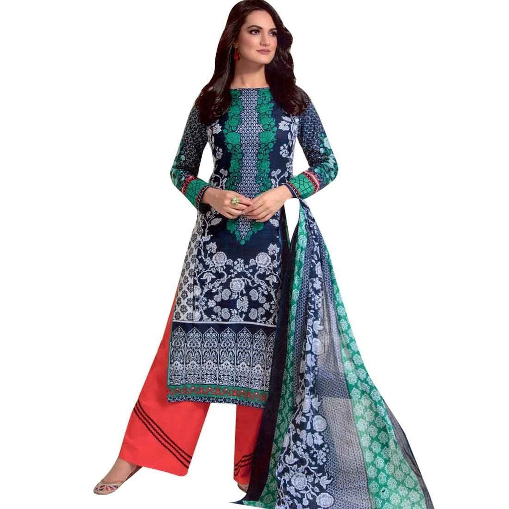Designer Karachi style Printed Cotton Salwar Kameez India Pakistani Bollywood