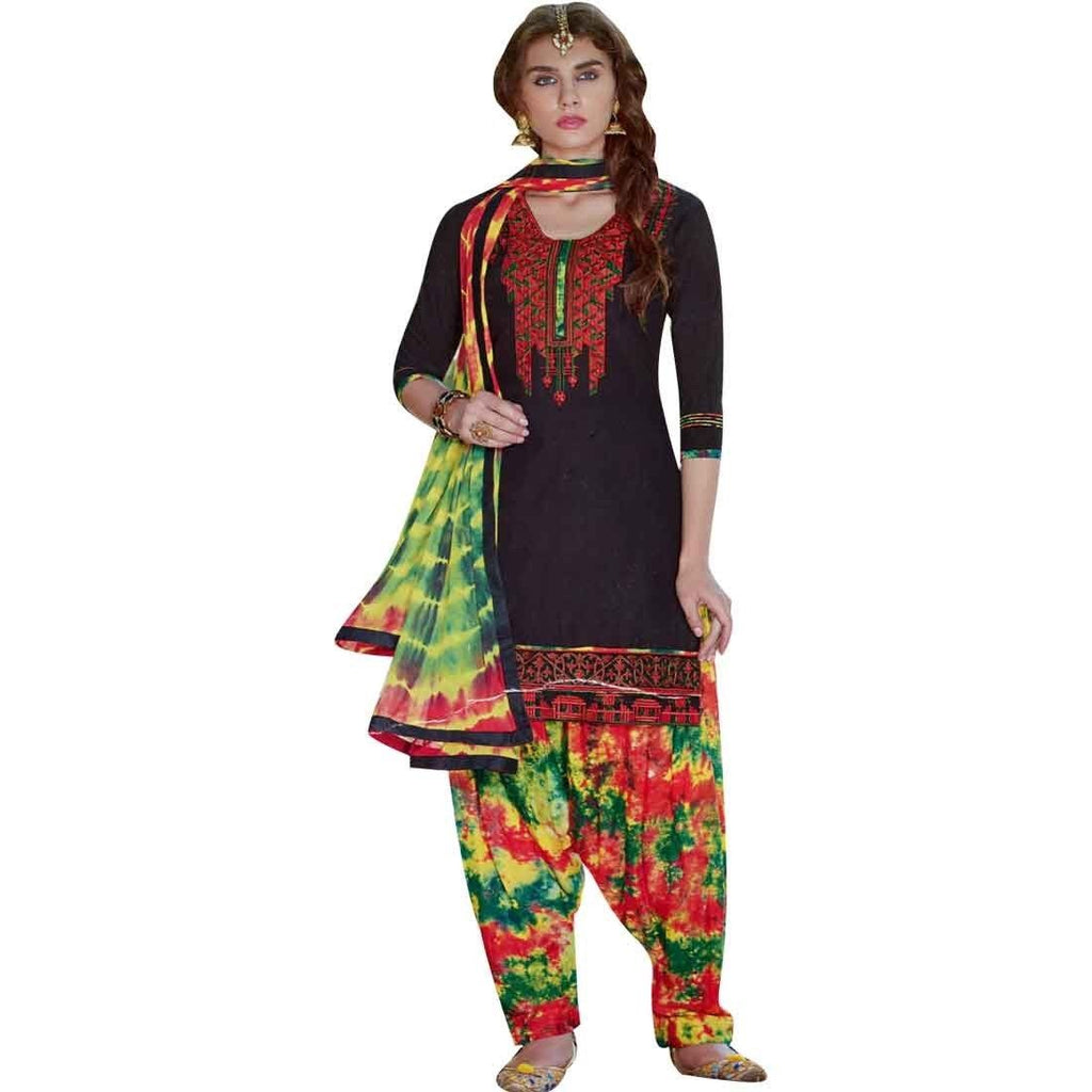 Ready to wear Patiala Salwar Embroidered Cotton Salwar Kameez Suit Indian dress