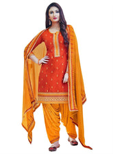 Ready to Wear Cotton Embroidered Patiala Salwar Kameez Women's Dress