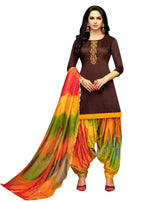 LADYLINE Kora Silk Handwork Salwar Kameez with Banarasi Silk Dupatta Ready to Wear Salwar suit Indian