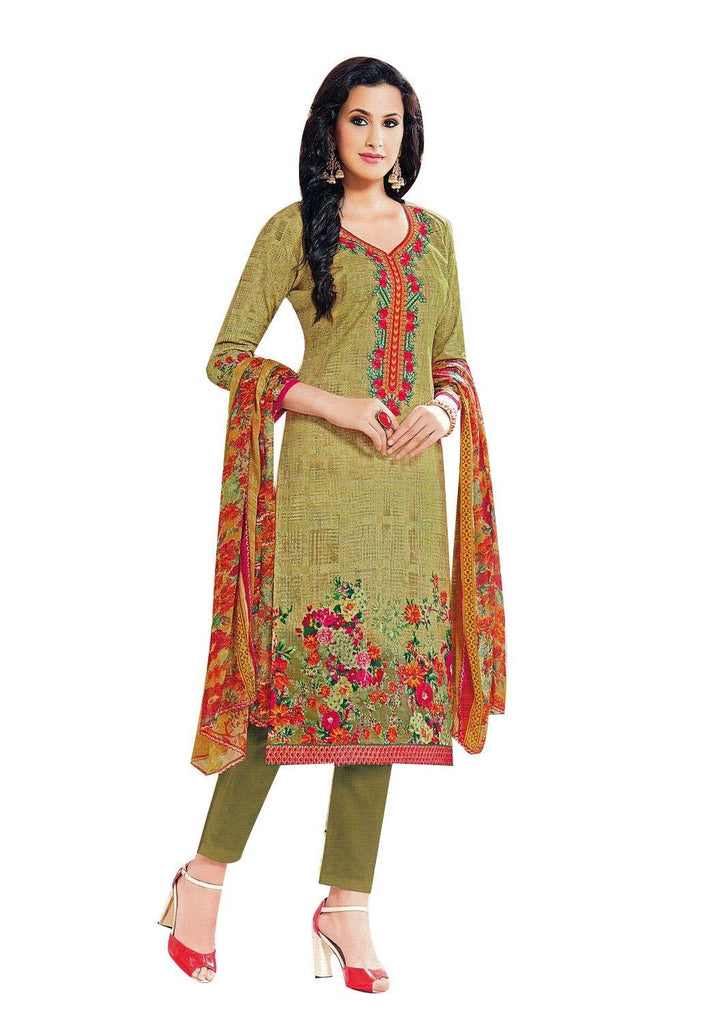Readymade Cotton Embroidered Salwar Kameez Gorgeous Printed Indian Dress Ready to wear Salwar Suit