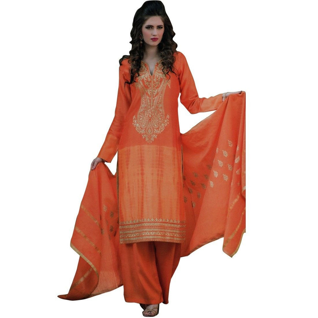 Designer Wedding Silk Embroidered Ready Made Salwar Kameez Suit