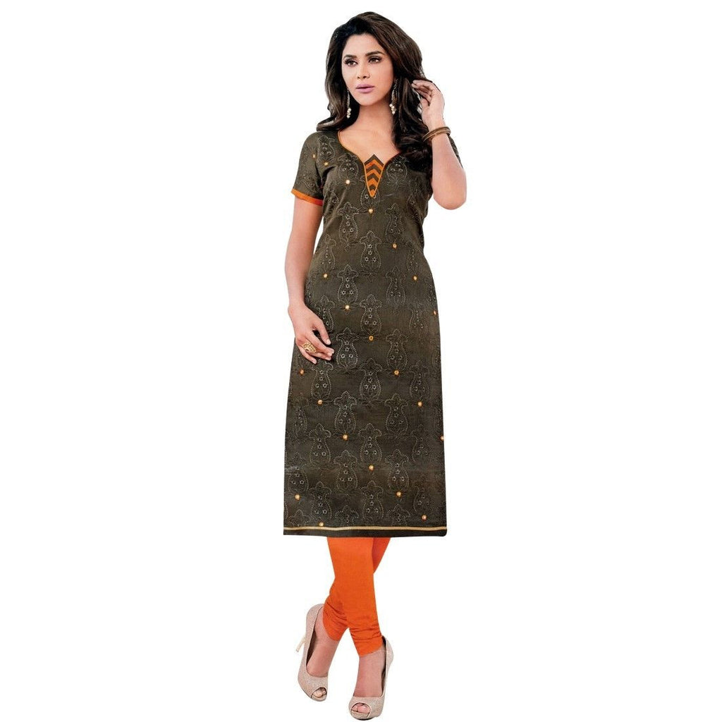 Ready to Wear Silk Embroidered Salwar Kameez Suit Indian Dress