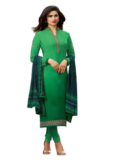 LADYLINE Partywear Salwar Kameez Rich Italian Crepe Embroidered Ready to Wear Indian Dress
