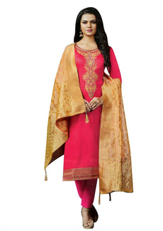 Readymade Silk Handworked Salwar Kameez with Banarasi Silk Dupatta
