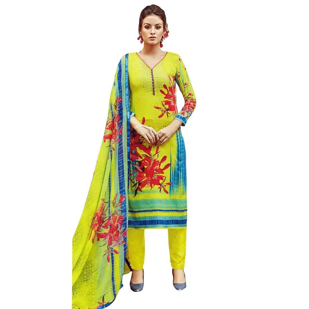 Ready Made Ethnic Gorgeous Printed Cotton Salwar Kameez Suit