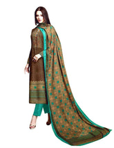 LADYLINE Ethnic Cotton Salwar Kameez Embroidered & Ethnic Printed