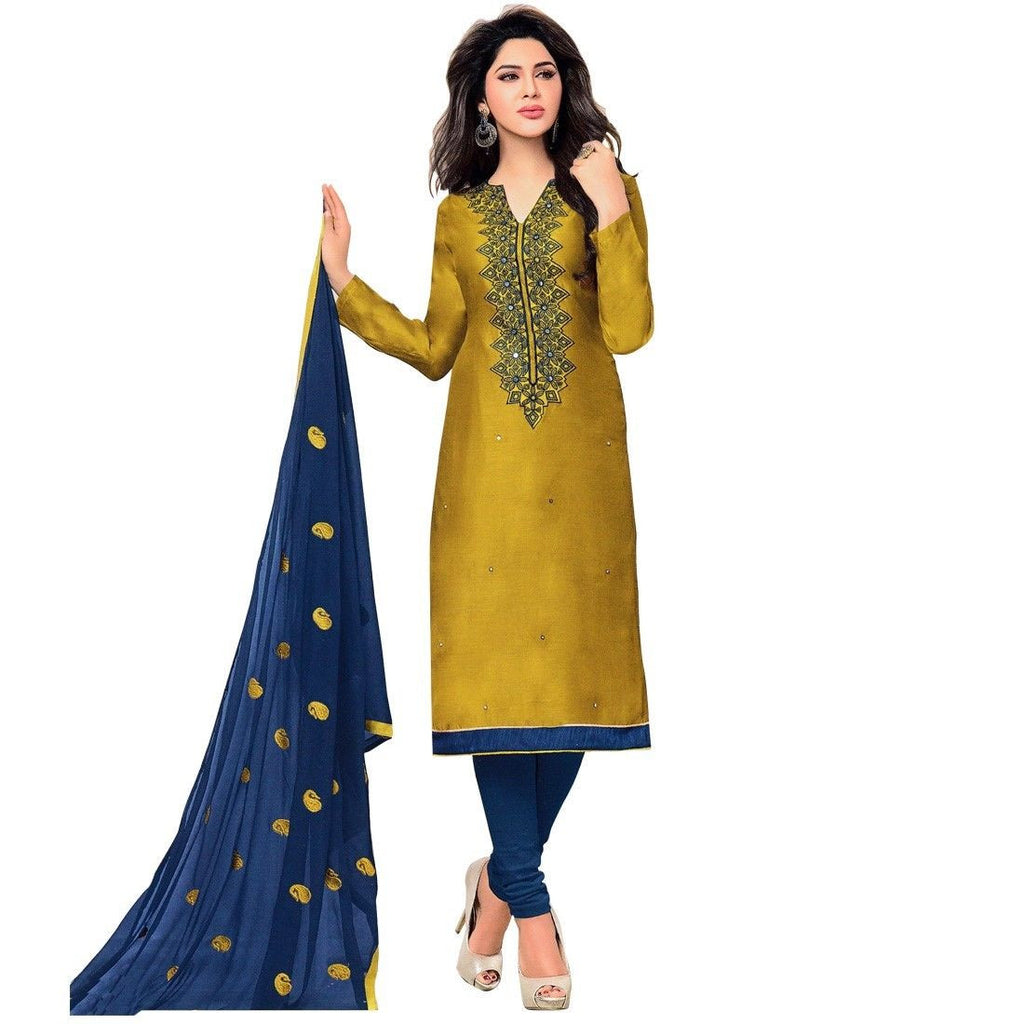 Designer Silk Embroidered Salwar Kameez Suit Dress Ready to Wear