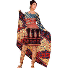 Readymade French Crepe Printed Salwar Kameez Suit Indian