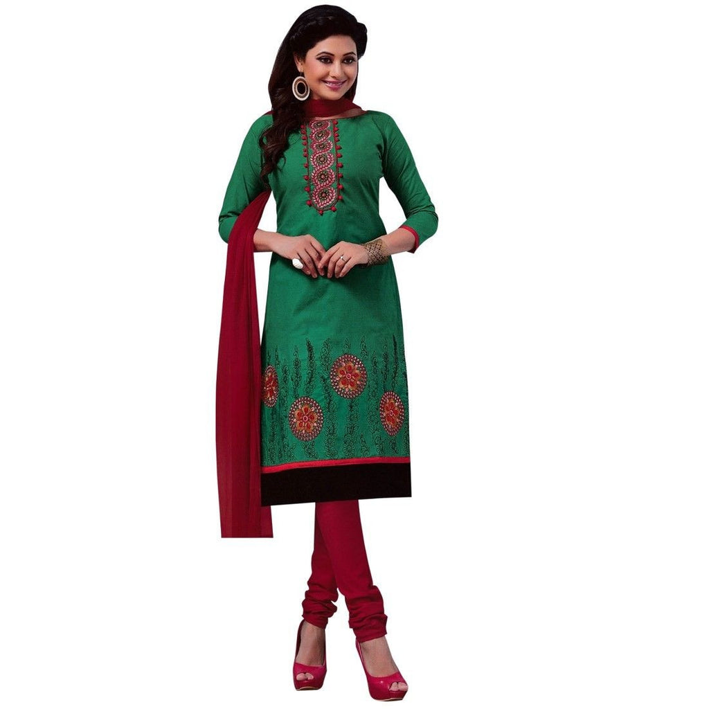 Ready Made Designer Cotton Embroidered Salwar Kameez Indian Dress