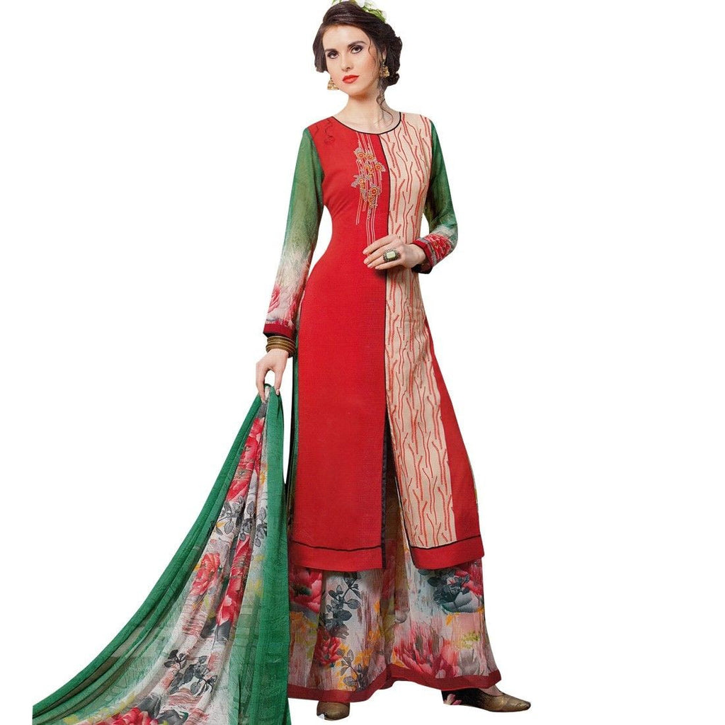 Designer Palazzo Pants Embroidered Salwar Kameez Suit Indian Dress