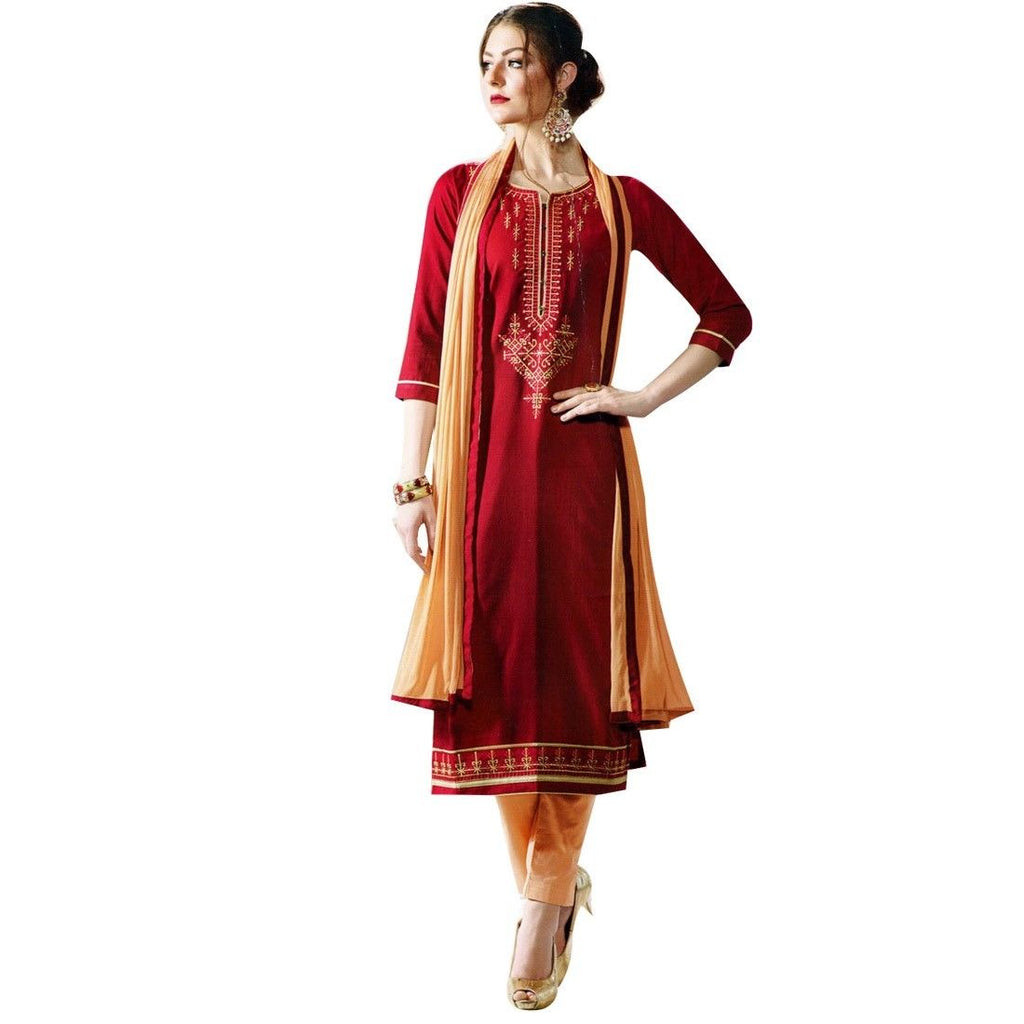 Ready to Wear Cotton Embroidered Salwar Kameez Indian Pakistani Dress