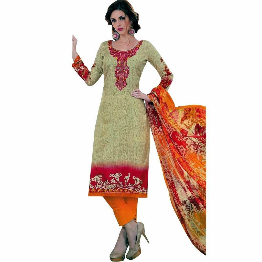Ready To Wear Cotton Sober Embroidered Salwar Kameez Suit Indian