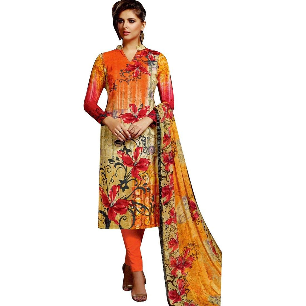 Readymade Gorgeous Printed Cotton Salwar Kameez Suit Indian