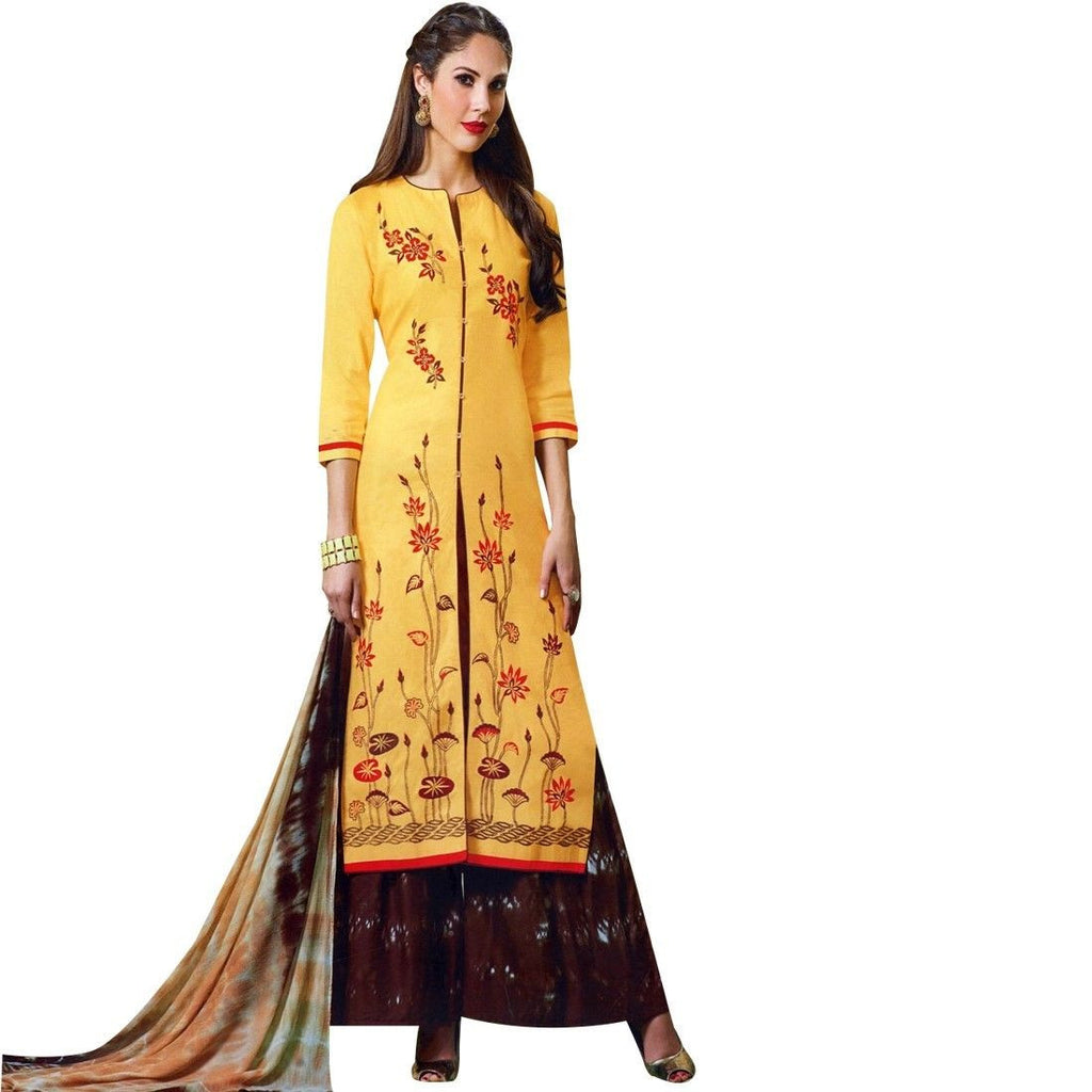 Readymade Stitched Palazzo Printed Pants Cotton Salwar Kameez