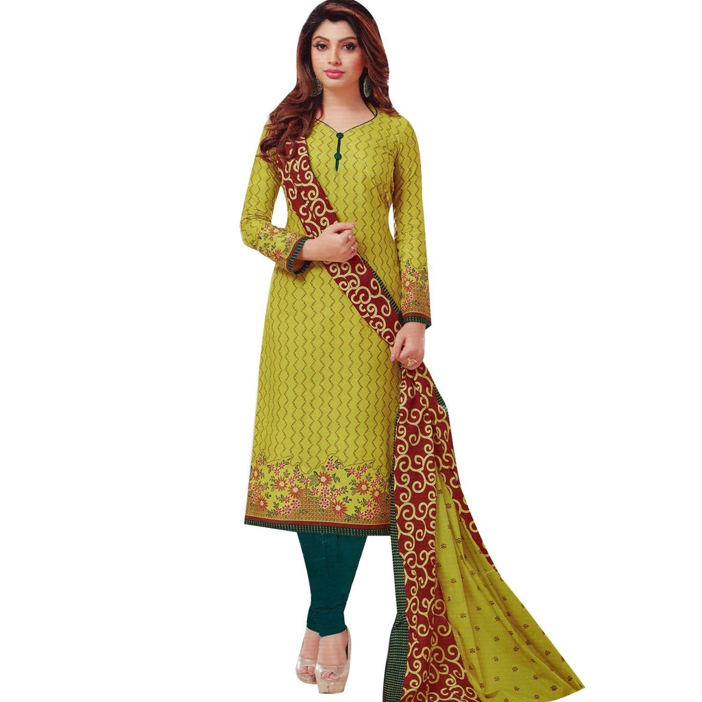 LADYLINE Ethnic Cotton Printed Salwar Kameez Womens Indian Dress Ready to wear Salwar Suit