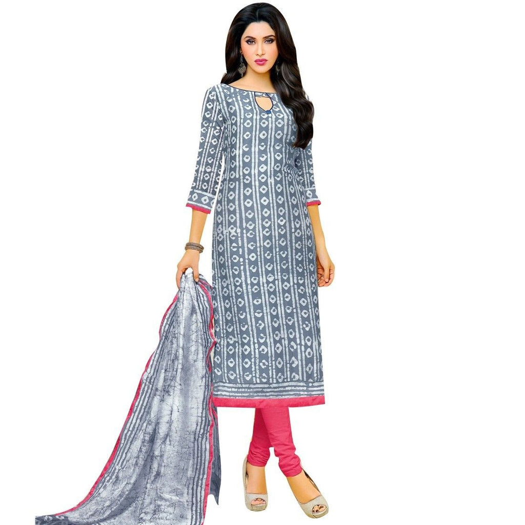 Ready Made Ethnic Batik Printed Cotton Salwar Kameez Suit Indian