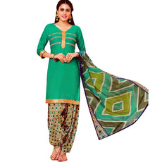 Readymade Patiala Salwar Printed Cotton Salwar Kameez Suit