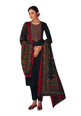 Ladyline Pure Cotton Kashmiri Embroidery Salwar Kameez Suit with Mal Cotton Dupatta & Pants