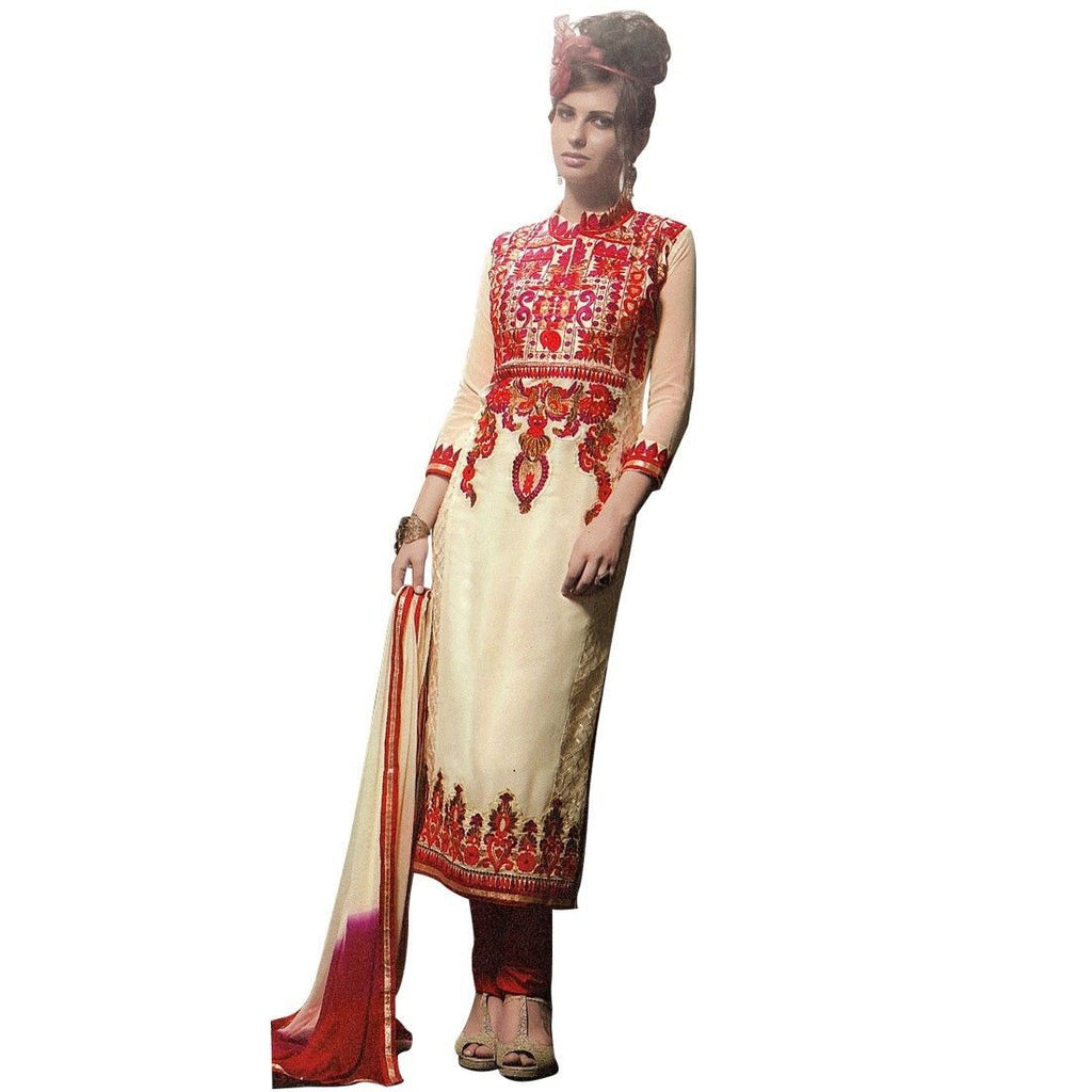 Designer Wedding Handwork Embroidered Georgette Salwar Kameez Suit