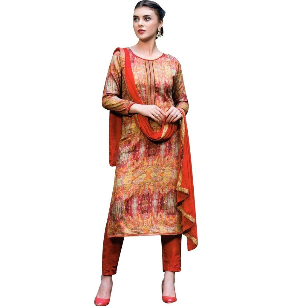 Ready to Wear Designer Print Embroidery Cotton Salwar Kameez Suit