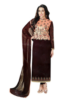 Readymade Designer Salwar Kameez Wedding Partywear Chiffon Embroidered with Jacket Koti Indian Dress