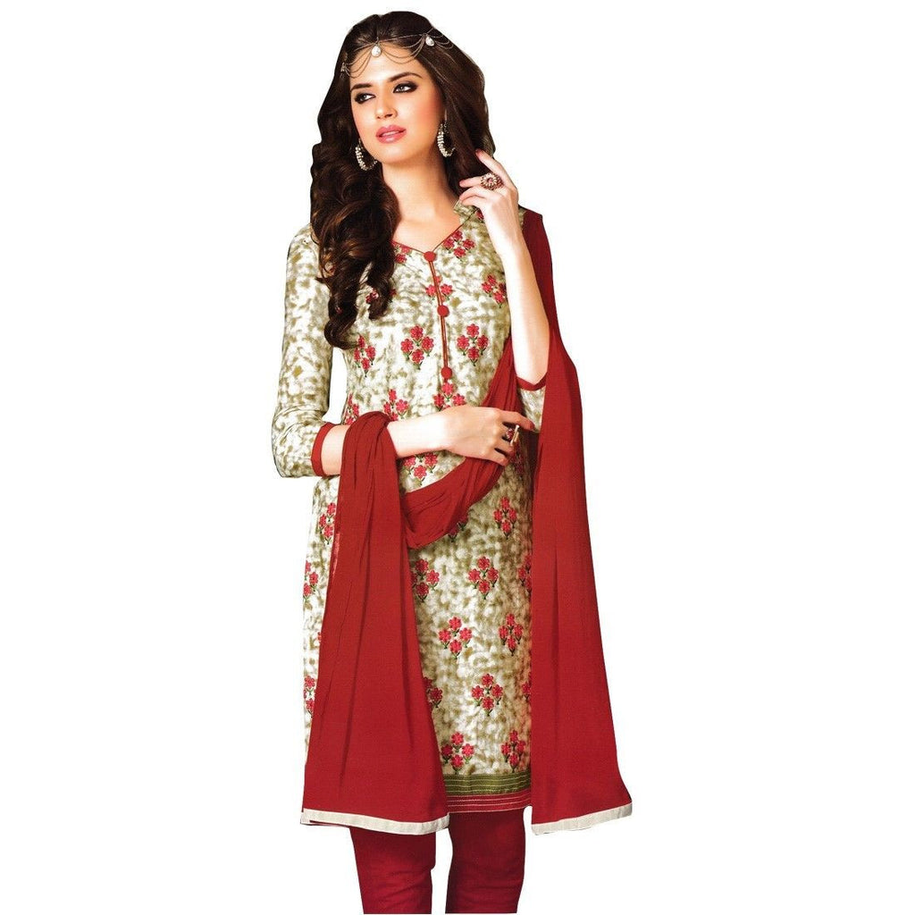 Designer Elegant Embroidery Cotton Salwar Kameez Readymade India