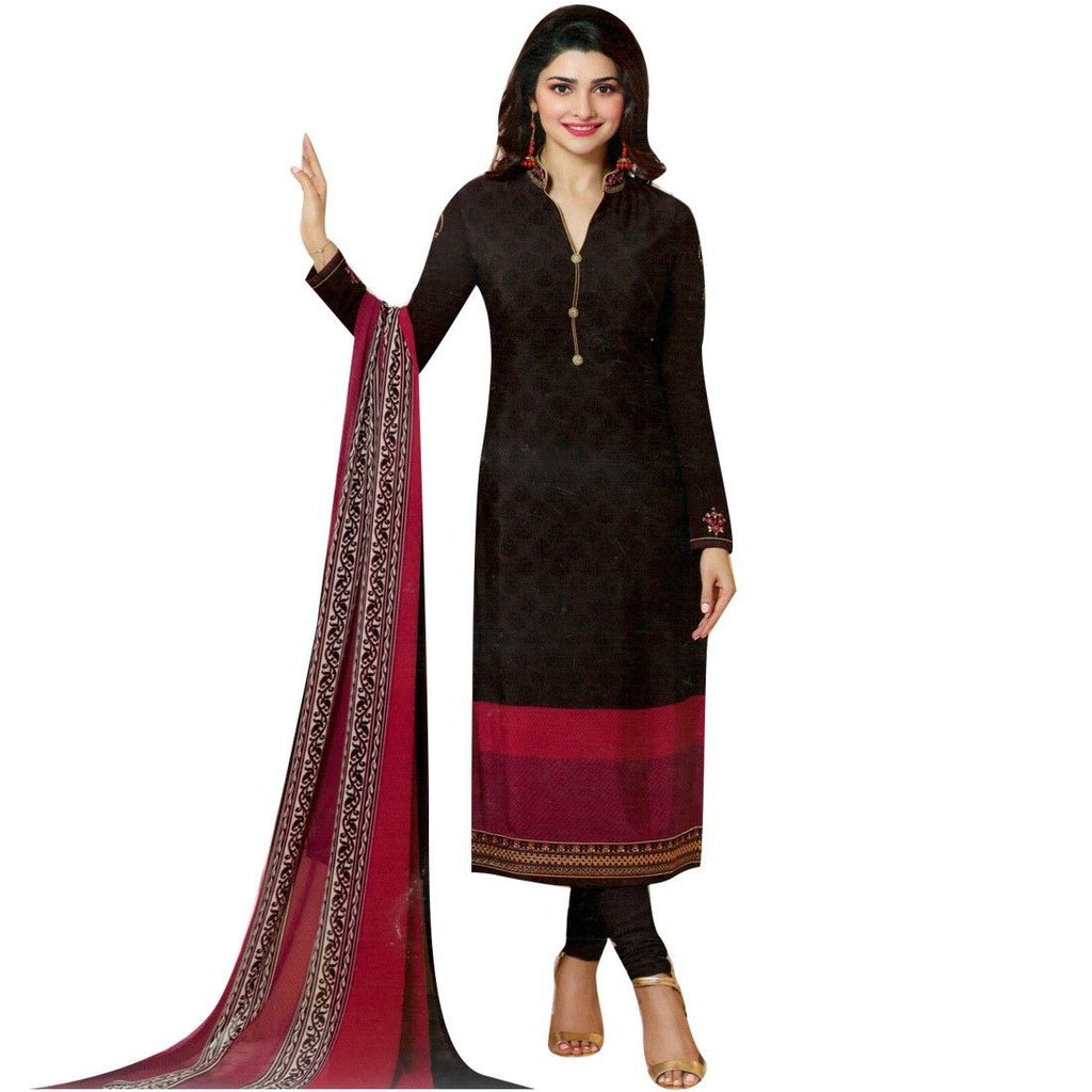 Ladyline Designer Italian Crepe Embroidery Readymade Wedding Salwar Kameez Indian