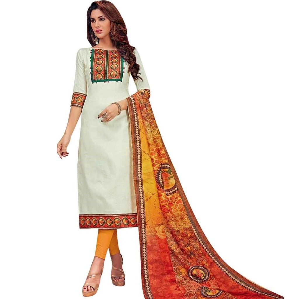 Lady Line Readymade Jacquard Cotton Digital Printed Salwar Kameez Suit Indian Pakistani
