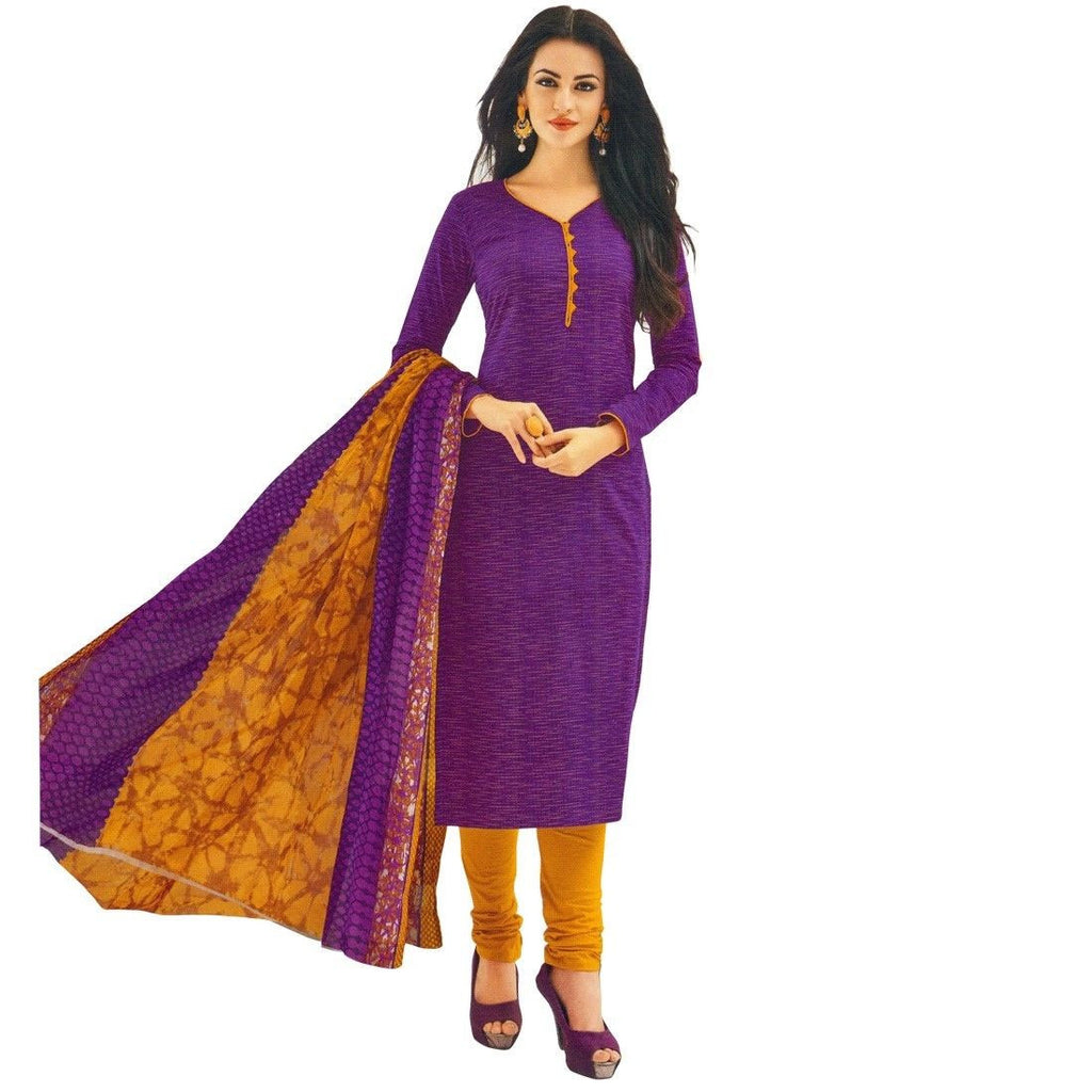 Ethnic Printed Cotton Salwar Kameez Ready To Wear Indian Dress Suit