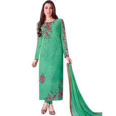 Lady Line Designer Partywear Georgette Embroidered Printed Inner Salwar Kameez Indian Dress