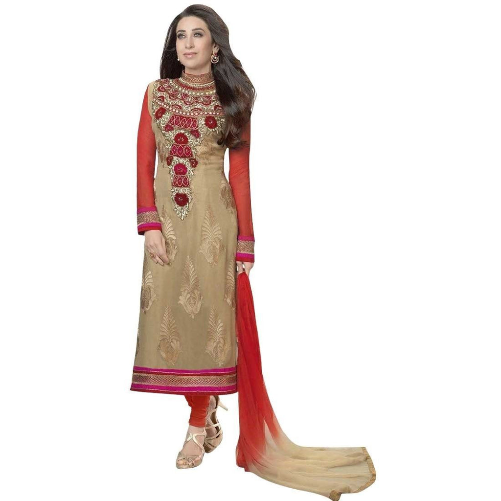 DESIGNER-PARTYWEAR-EMBROIDERED SALWAR KAMEEZ-INDIAN PAKISTANI
