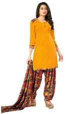 Ready To Wear Faux Crepe Printed Salwar Kameez Suit Indian Dress