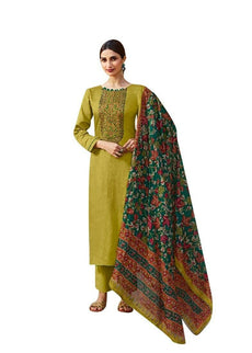 Pure Cotton Printed Embroidered Salwar Kameez Suit with Printed Dupatta Pants Bottom