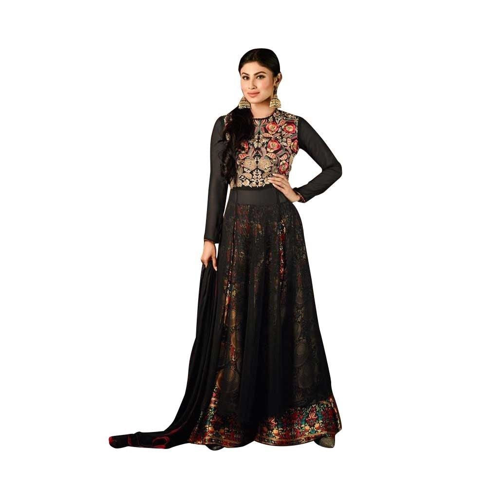 Ready Made Anarkali Embroidered Georgette Salwar Kameez Bollywood