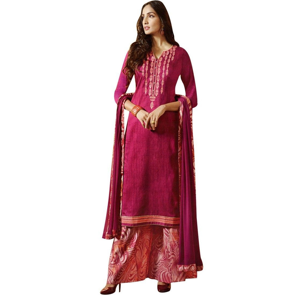 Ready to Wear Designer Palazzo Pants Cotton Embroidered Salwar Kameez Indian Pakistani Dress
