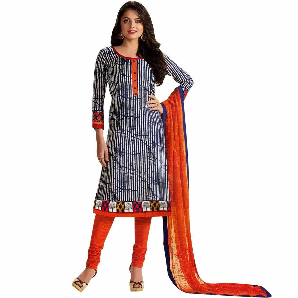 Ready to Wear Kora Silk Designer Salwar Kameez with Embroidery Dupatta