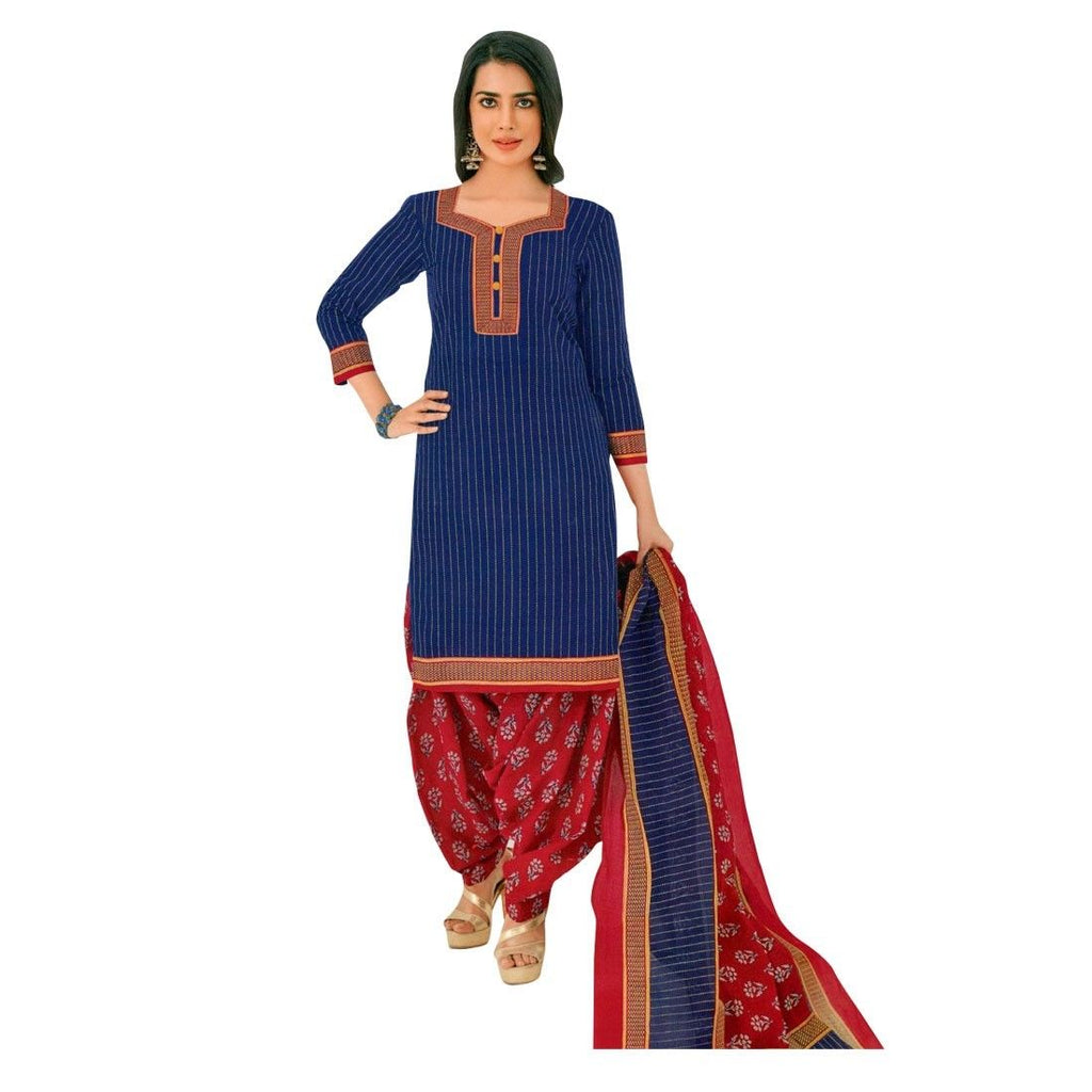 Designer Printed Cotton Patiala Salwar Kameez Readymade Suit Indian Dress Bollywood