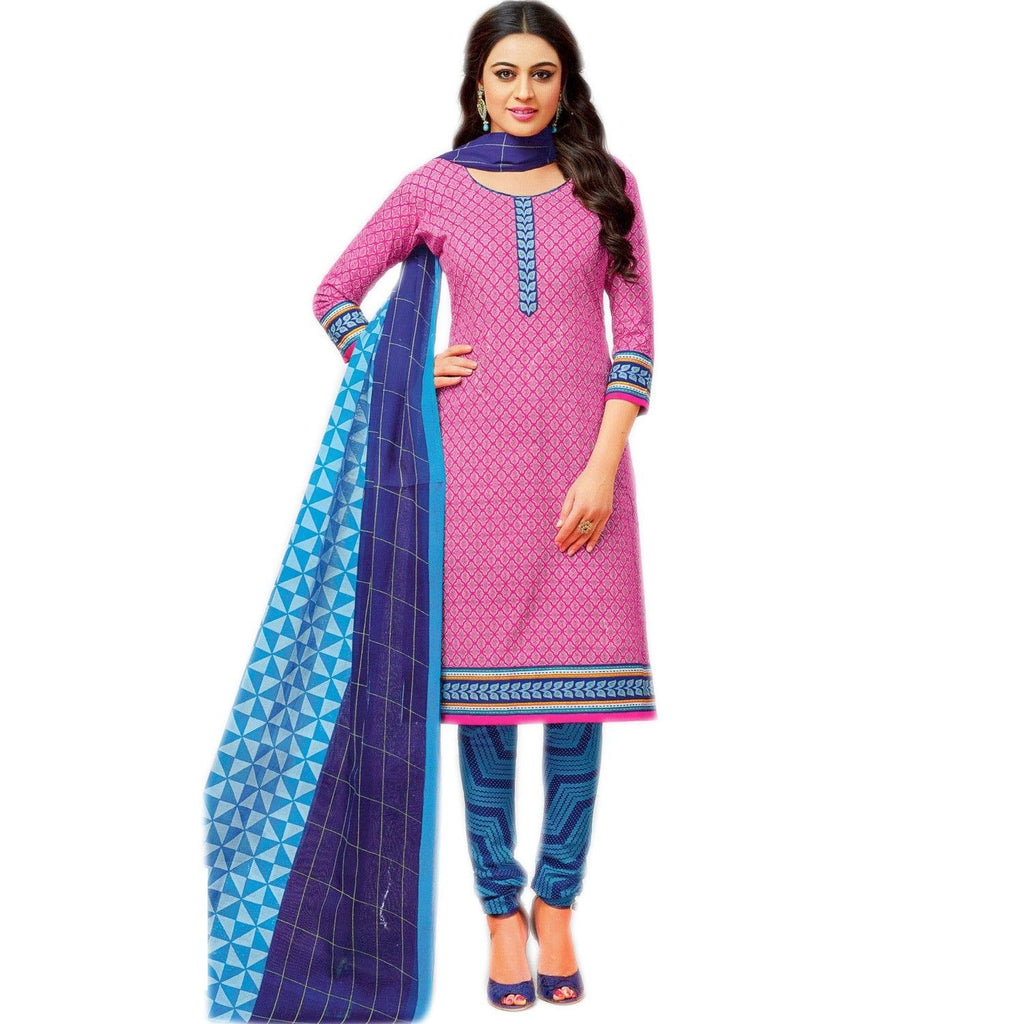 Ready to wear Ethnic Printed Cotton Salwar Kameez Indian Dress Readymade Stitched Salwar Suit