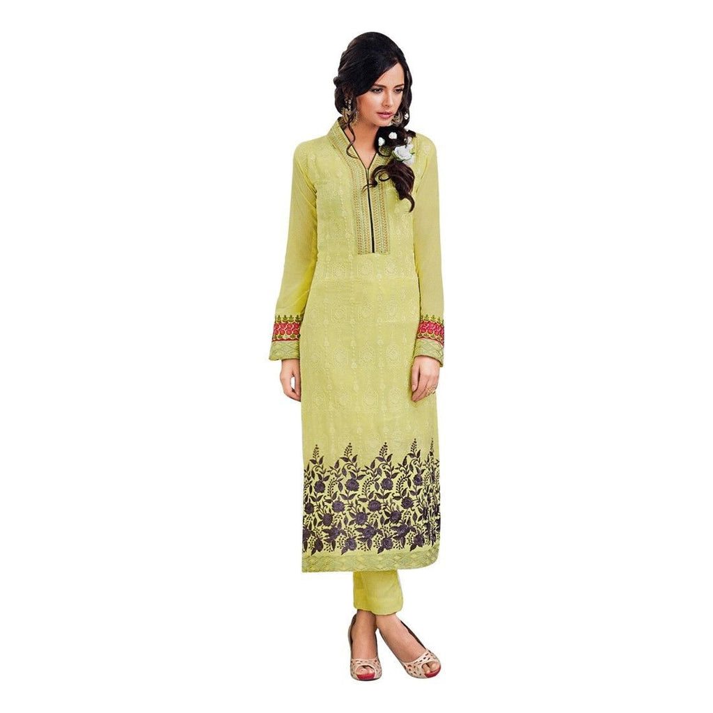 Designer Georgette Embroidered Salwar Kameez Suit Indian Dress