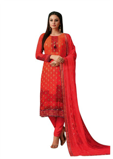 Ladyline Georgette Brocade Partywear Salwar Kameez Ready to Wear Indian Pakistani Salwar Suit Dress