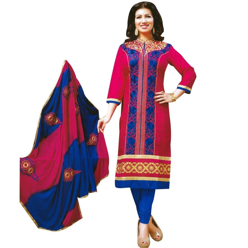 Rich Cotton Embroidered Salwar Kameez suit Indian Dress
